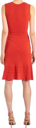 Derek Lam V-Neck Flared Skirt Dress