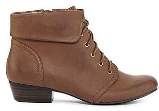 JCPenney Yuu Tang Cuffed Lace-Up Boots