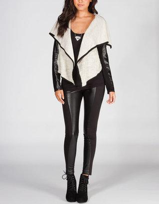 BB Dakota Del Mar Womens Faux Leather Pants