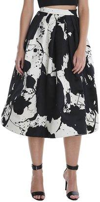 Tibi Paint Splatter Full Skirt