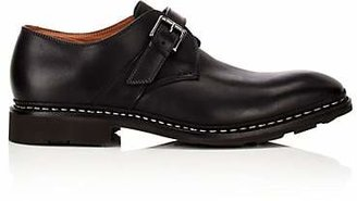 Heschung Men's Noyer Leather Monk-Strap Shoes - Black