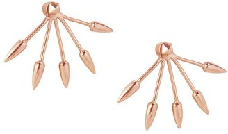 Pamela Love Rose Gold Five Spike Earrings