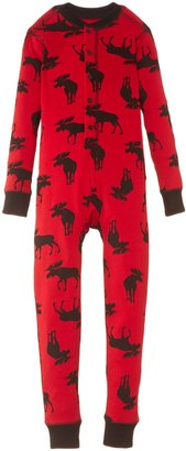 Hatley Boys' Children's Union Suit-Moose On Red Onesie 8 Years