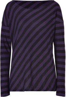 Majestic Violet/Black Oversized Cotton-Cashmere T-Shirt
