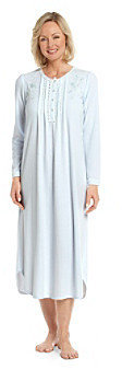 Miss Elaine Honeycomb Cable Knit Long Gown - Blue