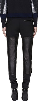 3.1 Phillip Lim Black Lambskin Wader Trousers