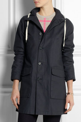 J.Crew Two-For coated cotton-canvas coat