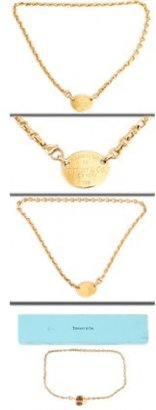 Tiffany & Co. excellent (EX) Return to 18k Yellow Gold Pendant Chain Necklace