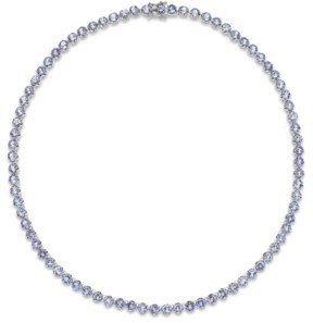 Macy's Tanzanite Collar Necklace in Sterling Silver (20 ct. t.w.)