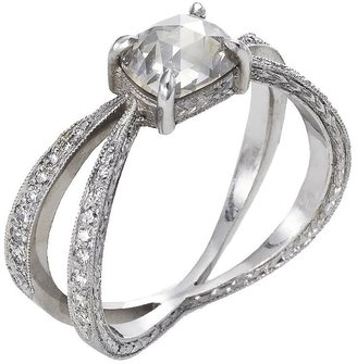 Cathy Waterman Unique Rose Cut Rustic Diamond Infinity Ring