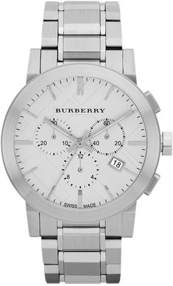 Burberry Watch, Men's Swiss Chronograph Stainless Steel Bracelet 42mm BU9350 $695 thestylecure.com