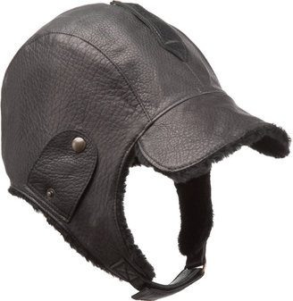Barneys New York Shearling Moto Cap