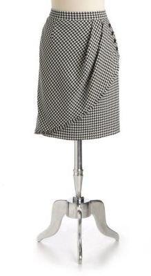 Tahari ARTHUR S. LEVINE Houndstooth Wrap-Effect Skirt