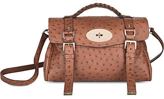 Mulberry Alexa ostrich-leather satchel