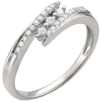 1/5 CT.T.W. Princess-cut Diamond Ring in 10K White Gold (H-I, I2)