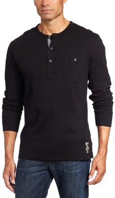 Nautica Men's Long Sleeve Solid Pocket Henley