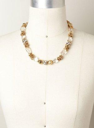 Carol Dauplaise Beaded Metal Hoop Necklace