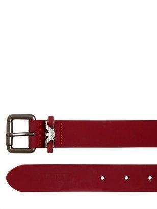 Armani Junior Leather Logo Belt