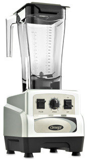 Omega BL460S 64-Ounce 3-HP Variable Speed Commercial Blender with Pulse Control - Silver
