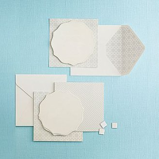 Martha Stewart MarthaCelebrationsTM Printable Invitations/Menu Cards – Ice White