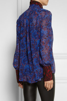 Just Cavalli Printed chiffon blouse