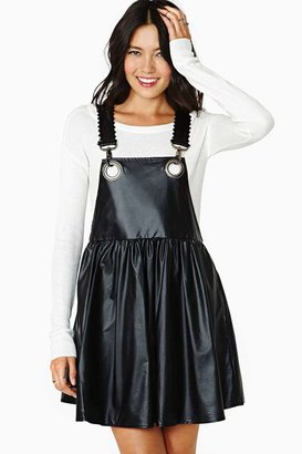 Nasty Gal Bitching And Junkfood Eviee Faux Leather Jumper