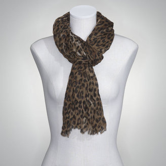 Jones New York Cheetah Crinkle Scarf