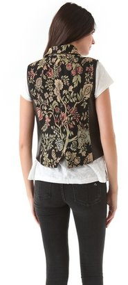 Rag and Bone Rag & bone Tapestry Mughal Moto Vest