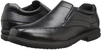 Nunn Bush Sanford Slip Resistant Bicycle Toe Work Slip-On (Black) Men's Slip on Shoes