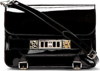 Proenza Schouler Black Patent Leather PS11 Classic Shoulder Bag