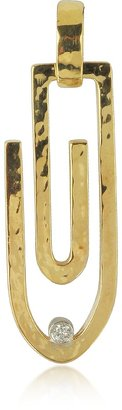 Torrini Clips - 18K Yellow Gold Pendant with Diamond