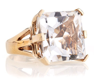 Stephen Dweck Square Crystal Cocktail Ring