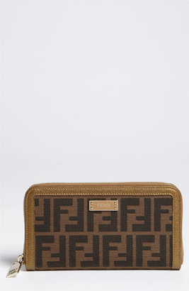 Fendi 'Zucca' Zip Around Wallet
