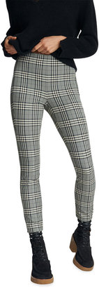 Rag & Bone Simone Fitted Stretch Check Pants