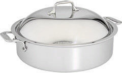 All-Clad Stainless Steel 6 Qt. French Braiser with Rack & Domed Lid
