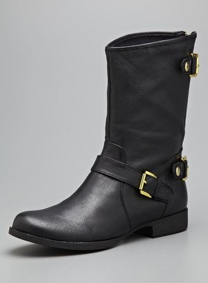 Steve Madden Engage Leather Buckle Boot