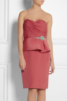 Notte by Marchesa Embellished silk-crepe dress
