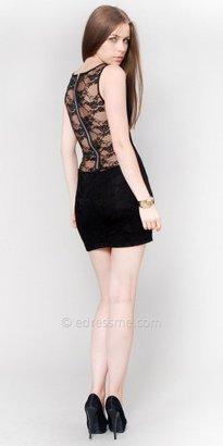 eDressMe Black Sexy Lace Club Dresses