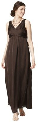 Women's Sleeveless Crossover Maxi Dress - Neutral Colors