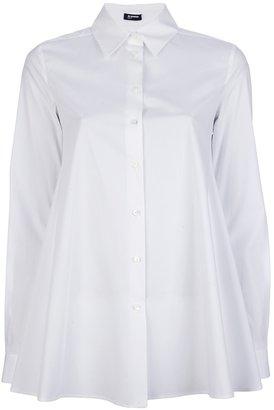 Jil Sander Navy stretch flared shirt
