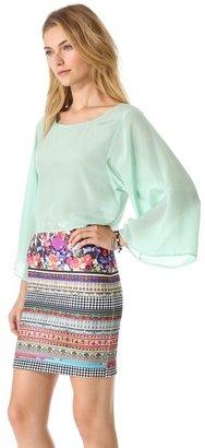 Blaque Label Dilk Kimono Cropped Top