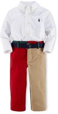 Ralph Lauren Baby Boys Sport Shirt & Pants Set