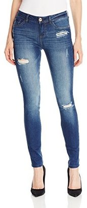 Kensie Jeans Women's Denim Skinny Jean with Distructions $88 thestylecure.com