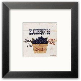 "Art.com Blueberries Just Picked"" Framed Art Print by David Carter Brown"