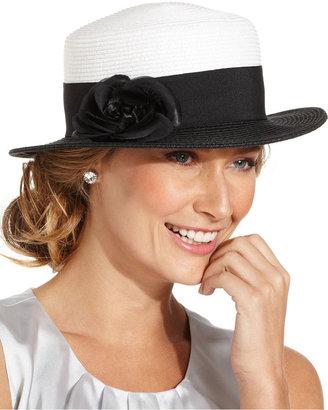 Nine West Hat, Black & White Boater