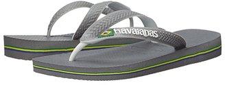 Havaianas Brazil Mix Flip Flops (Steel Grey/White/White) Women's Sandals