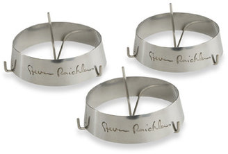 """Steven Raichlen 3"""" Round Stainless Rings with Spikes (Set of 3)"""