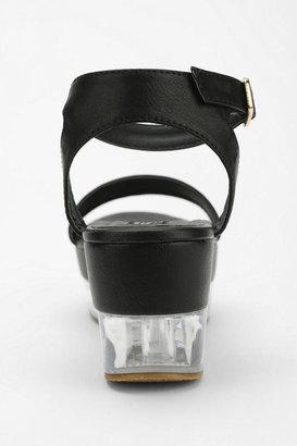 Urban Outfitters Deena & Ozzy Transparent Flatform Sandal