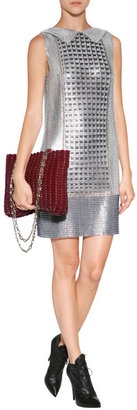 Paco Rabanne Leather Glace Bag in Red