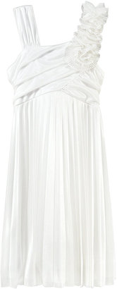 Sequin Hearts Girls' Silky Pleated Dress
